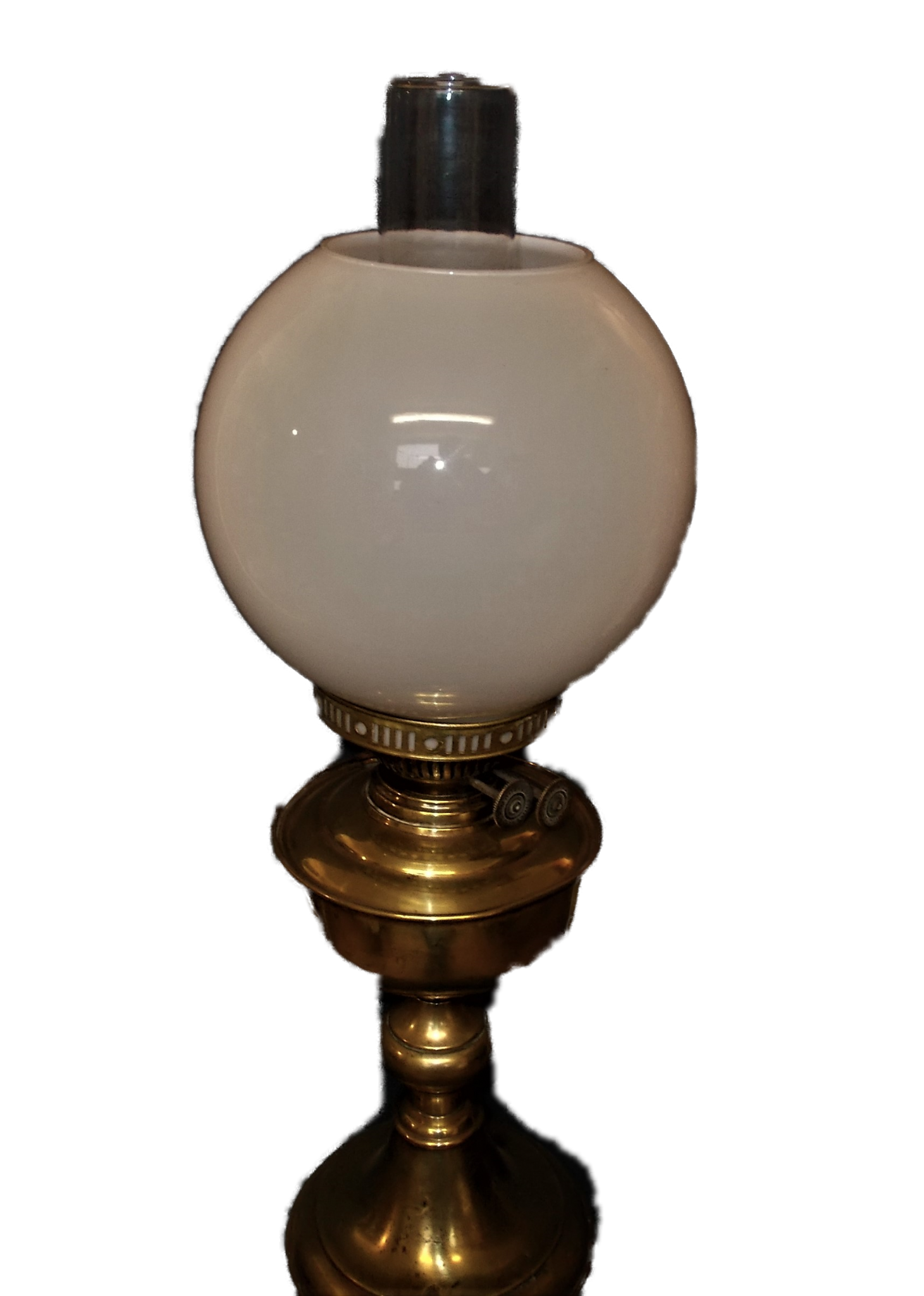 Duplex Brass Paraffin Lamp